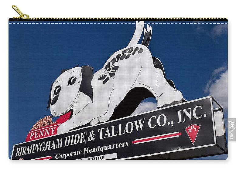 Penny Carry-all Pouch featuring the photograph Penny Dog Food Sign 2 by Timothy Smith