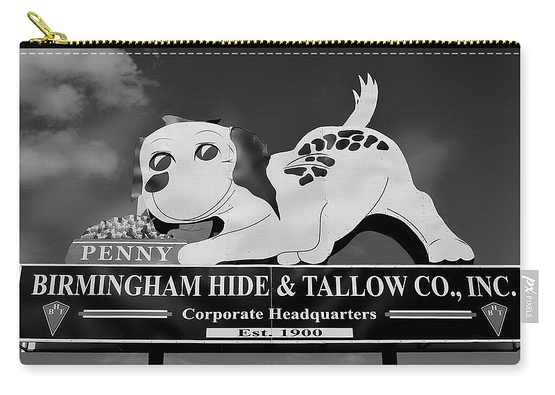 Penny Carry-all Pouch featuring the photograph Penny Dog Food Sign Photoart by Timothy Smith