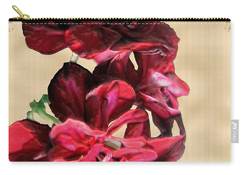 Flowers Carry-all Pouch featuring the painting Penny Postcard by RC DeWinter