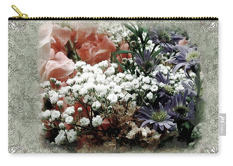 Flowers Carry-all Pouch featuring the painting Penny Postcard Romantica by RC DeWinter