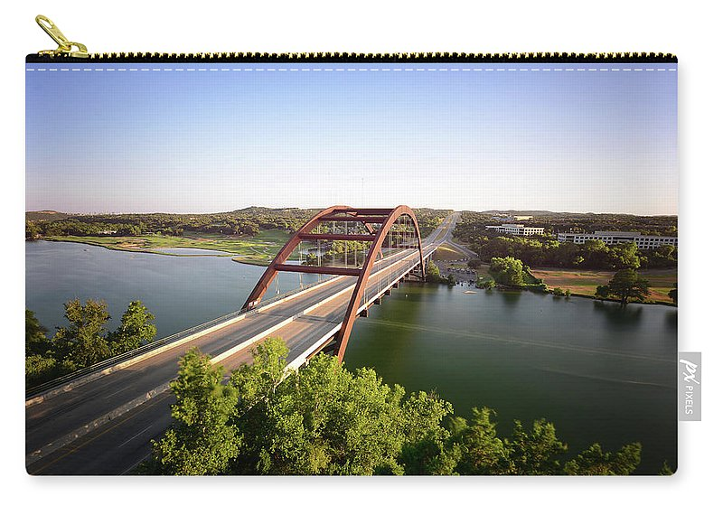 Bridge Carry-all Pouch featuring the photograph Pennybacker Bridge by Andrew Bridwell