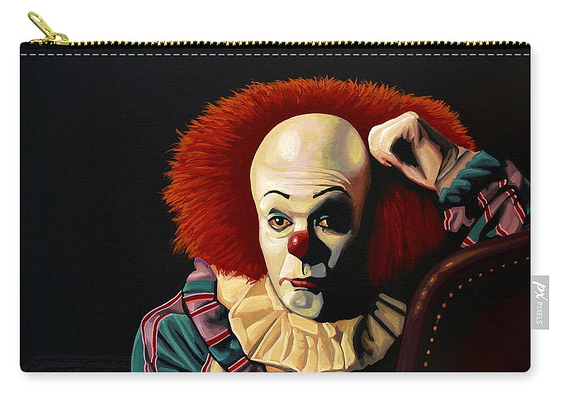 Pennywise Carry-all Pouch featuring the painting Pennywise by Paul Meijering