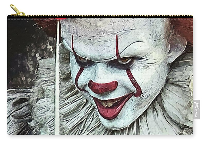 Pennywise Carry-all Pouch featuring the digital art Pennywise by Zapista OU