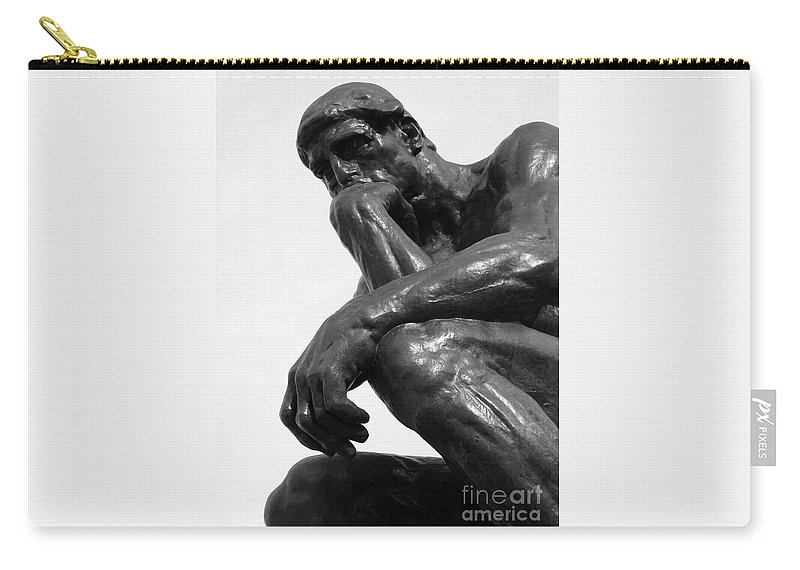 The Thinker Carry-all Pouch featuring the photograph Pensive by Ann Horn