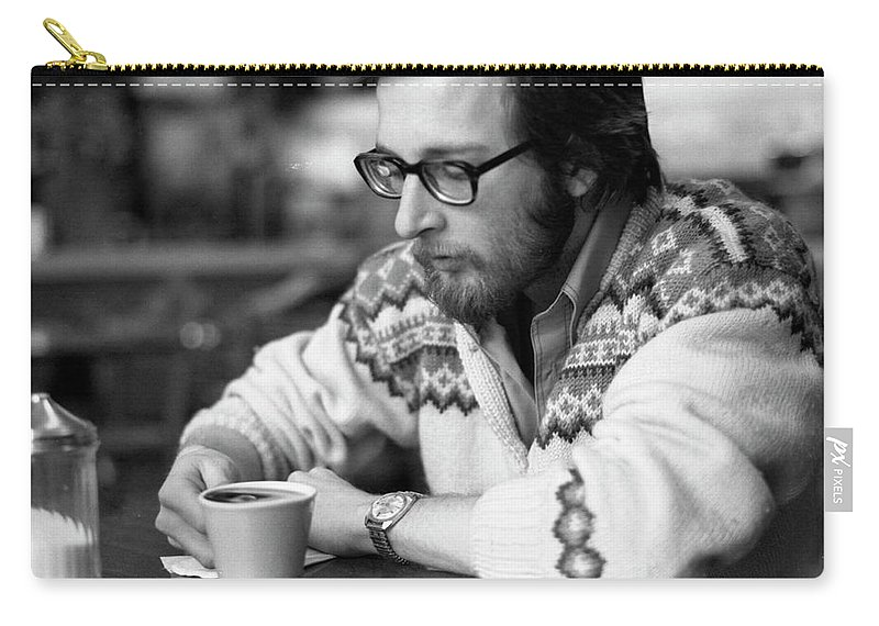Providence Carry-all Pouch featuring the photograph Pensive Brown Student, Louis Restaurant, 1976 by Jeremy Butler