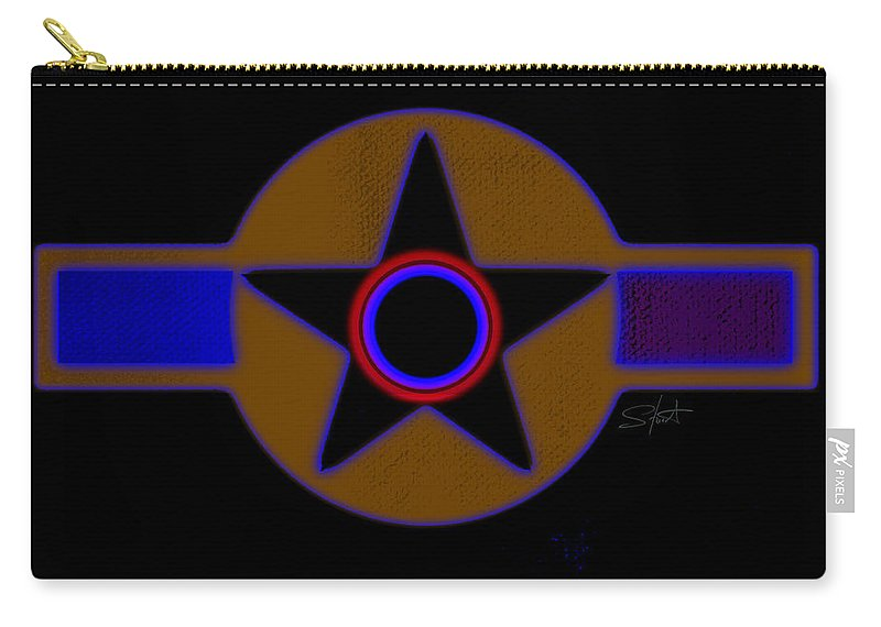 Usaaf Carry-all Pouch featuring the painting Pentagram by Charles Stuart