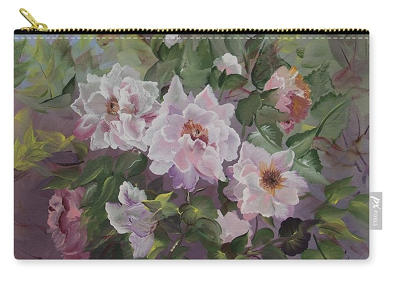 Peonies Carry-all Pouch featuring the painting Peonies by Jacqueline Whitcomb