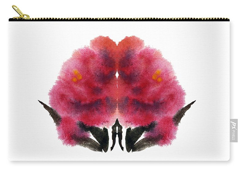 Red Carry-all Pouch featuring the painting Peonies by Natalia Burnos