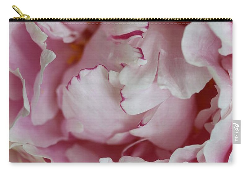 Peony Carry-all Pouch featuring the photograph Peony Close Up by Christiane Schulze Art And Photography