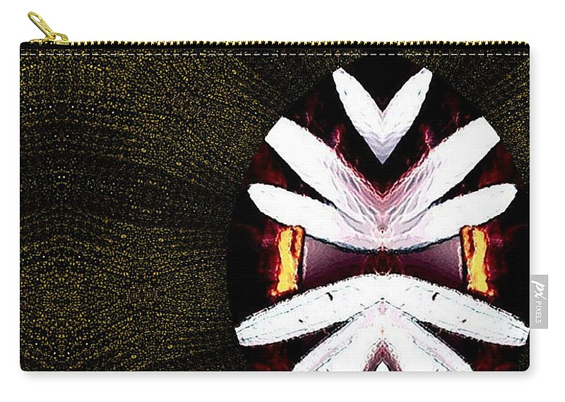 Oriental Carry-all Pouch featuring the mixed media Pepitas Oriental Art by Pepita Selles