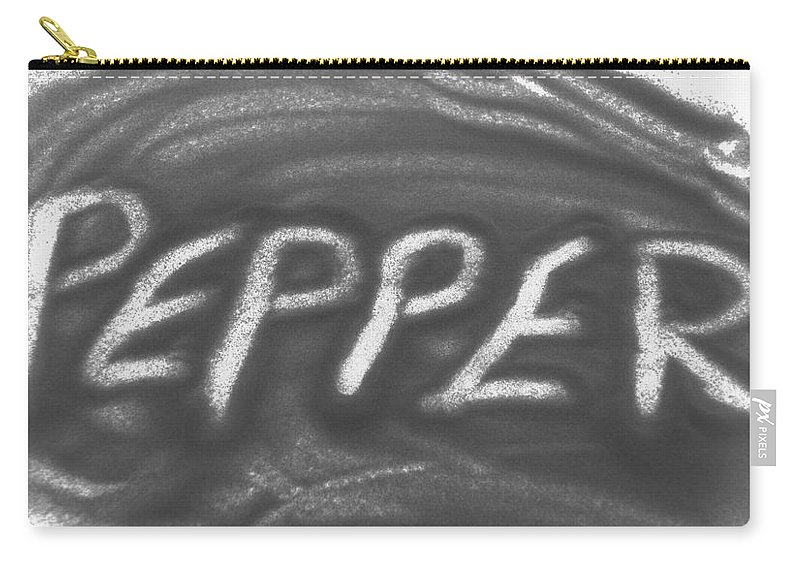 Black And White Carry-all Pouch featuring the photograph Pepper by Rob Hans