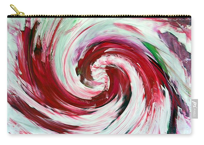 Peppermint Stick Candy Carry-all Pouch featuring the painting Peppermint Stick by Dawn Hough Sebaugh