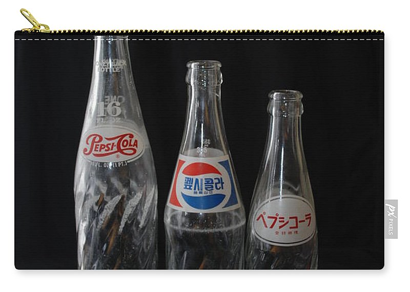 Pepsi Cola Carry-all Pouch featuring the photograph Pepsi Bottles by Rob Hans