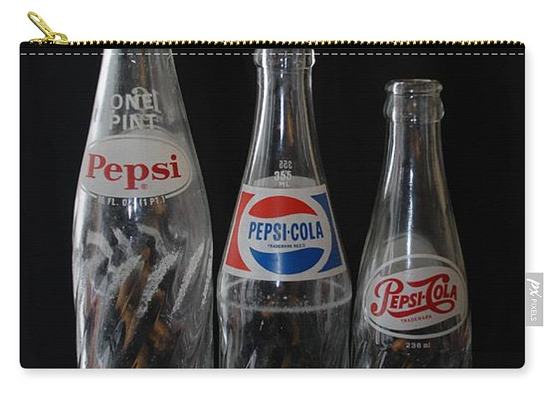 Pepsi Cola Carry-all Pouch featuring the photograph Pepsi Cola Bottles by Rob Hans