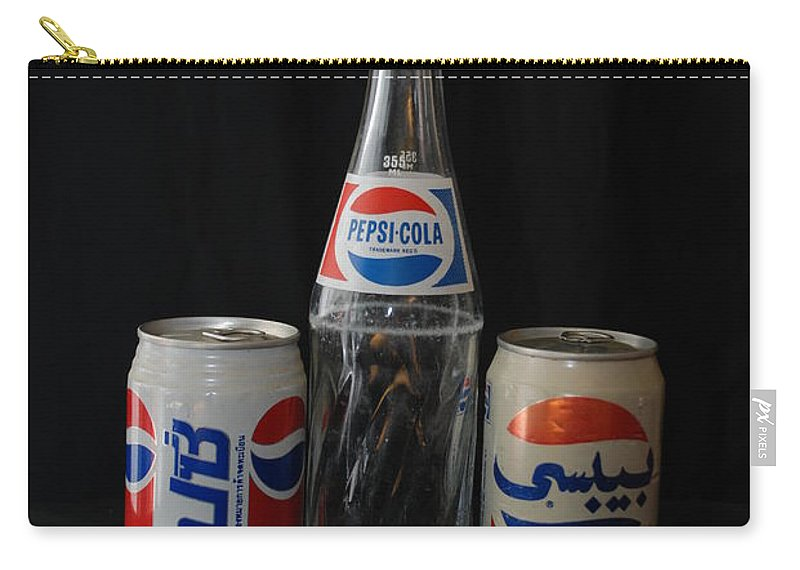 Cola Carry-all Pouch featuring the photograph Pepsi Cola by Rob Hans