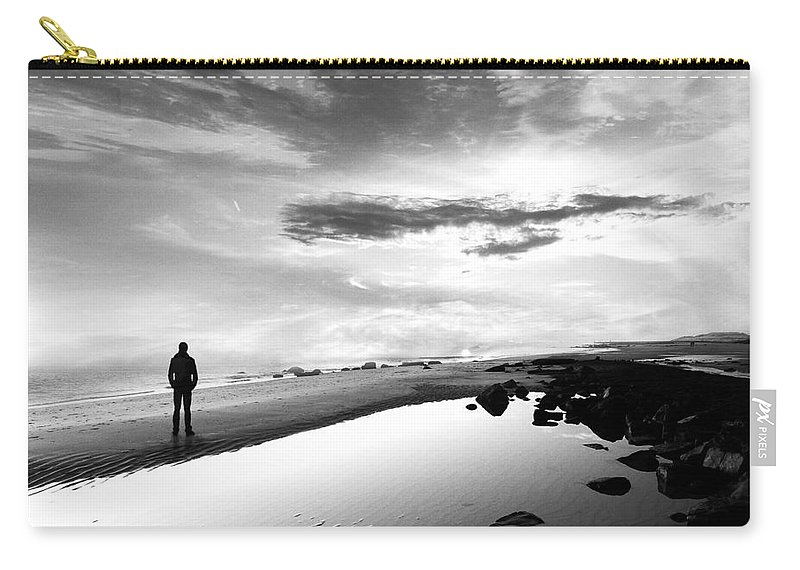 B&w Carry-all Pouch featuring the photograph Per Sempre by Jacky Gerritsen