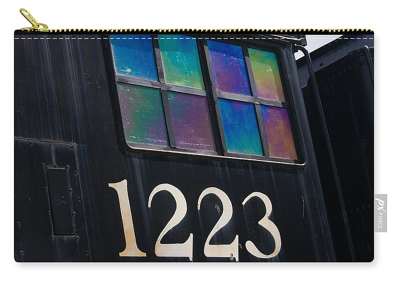 3scape Carry-all Pouch featuring the photograph Pere Marquette Locomotive 1223 by Adam Romanowicz