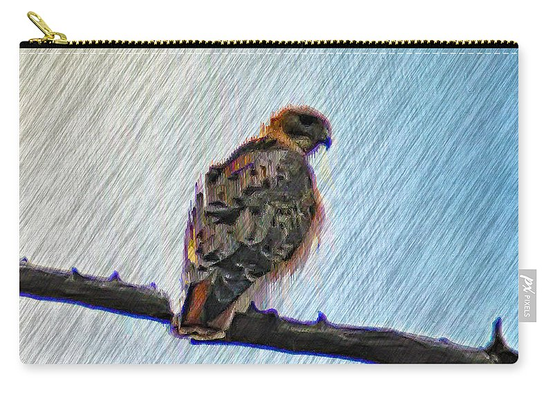 Peregrine Carry-all Pouch featuring the photograph Peregrine Falcon by Bill Cannon