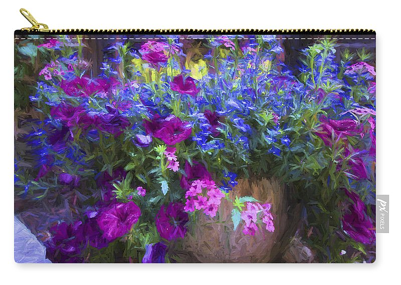 Perennials Carry-all Pouch featuring the photograph Perennial Flowers Y2 by Carlos Diaz