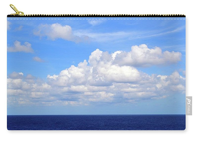 Tropical Carry-all Pouch featuring the photograph Perfect Clouds by Carol Jackson
