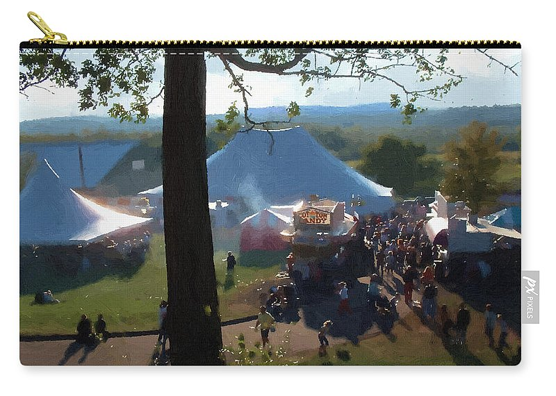 Afternoon Carry-all Pouch featuring the painting Perfect Fair Weather by RC DeWinter