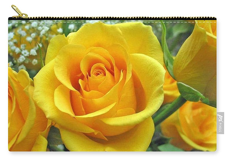 Perfect yellow rose carry all pouch for sale by sharon duguay rose carry all pouch featuring the photograph perfect yellow rose by sharon duguay mightylinksfo