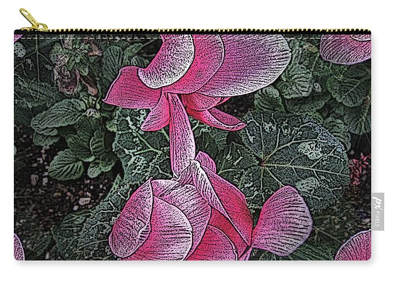 Pink Carry-all Pouch featuring the digital art Perfectly Pink by Tim Allen