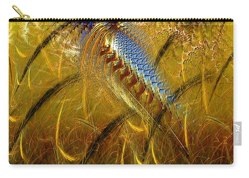 Abstract Carry-all Pouch featuring the digital art Perils Of Genetic Engineering by Casey Kotas