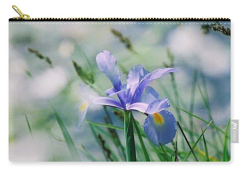 Periwinkle Carry-all Pouch featuring the photograph Periwinkle Iris by Nadine Rippelmeyer