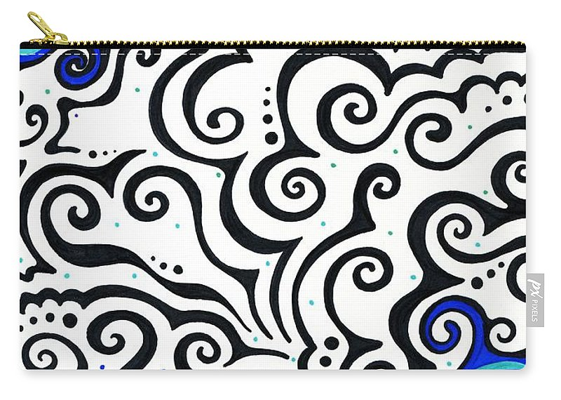 Swirls Carry-all Pouch featuring the mixed media Permafrost by Mandy Shupp
