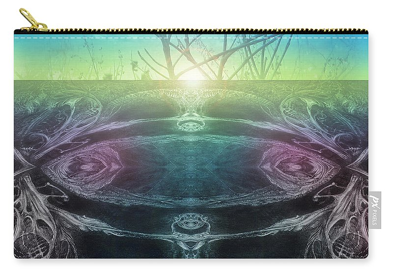 Digital Carry-all Pouch featuring the digital art Perpetual Motion Landscape by Otto Rapp