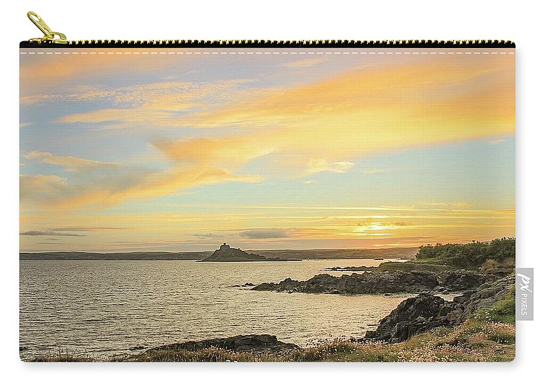 Sunset Carry-all Pouch featuring the photograph Perranuthnoe at sunset by Claire Whatley