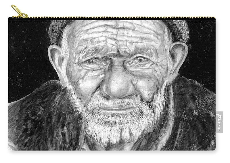 Figurative Painting Carry-all Pouch featuring the painting Perserverance by Portraits By NC
