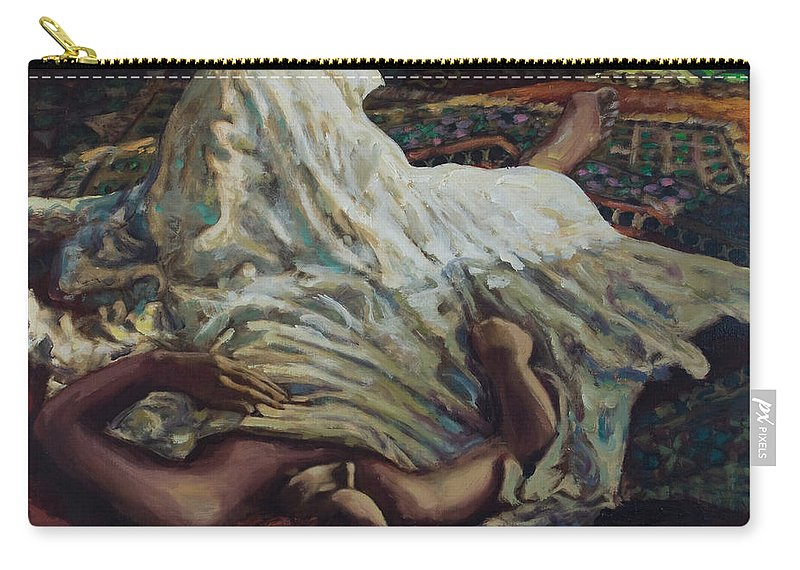 Figurative Carry-all Pouch featuring the painting Persian Rugs by Rick Nederlof