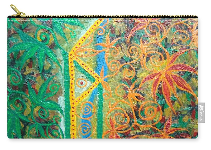 Symbol Carry-all Pouch featuring the painting Personal Power by Joanna Pilatowicz