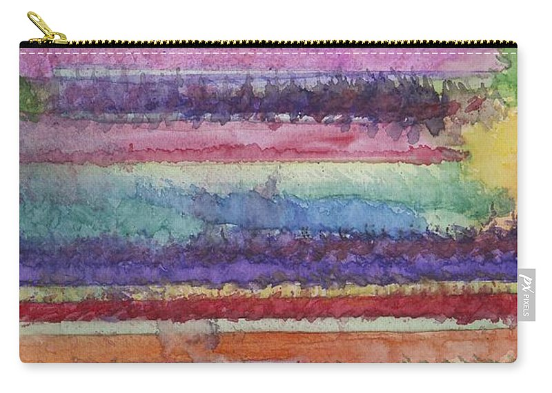 Colorful Carry-all Pouch featuring the painting Perspective by Jacqueline Athmann