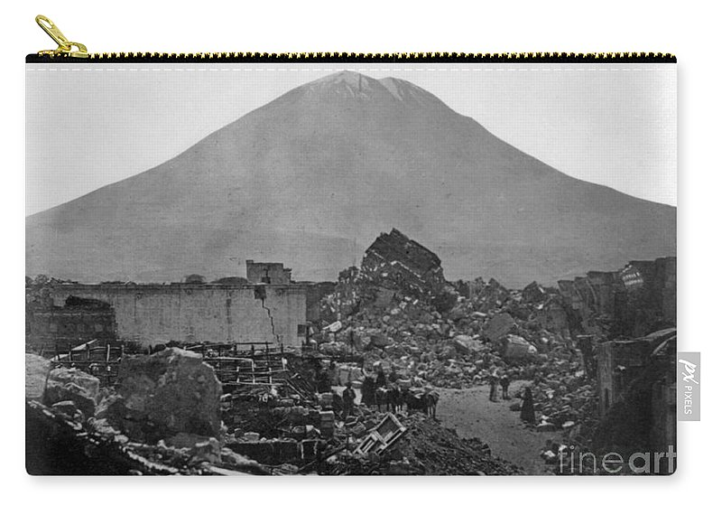 1868 Carry-all Pouch featuring the photograph Peru: Earthquake by Granger