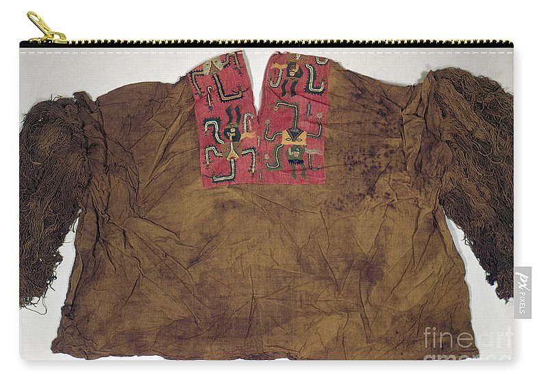 2nd Century B. C. Carry-all Pouch featuring the photograph Peru: Paracas Poncho by Granger