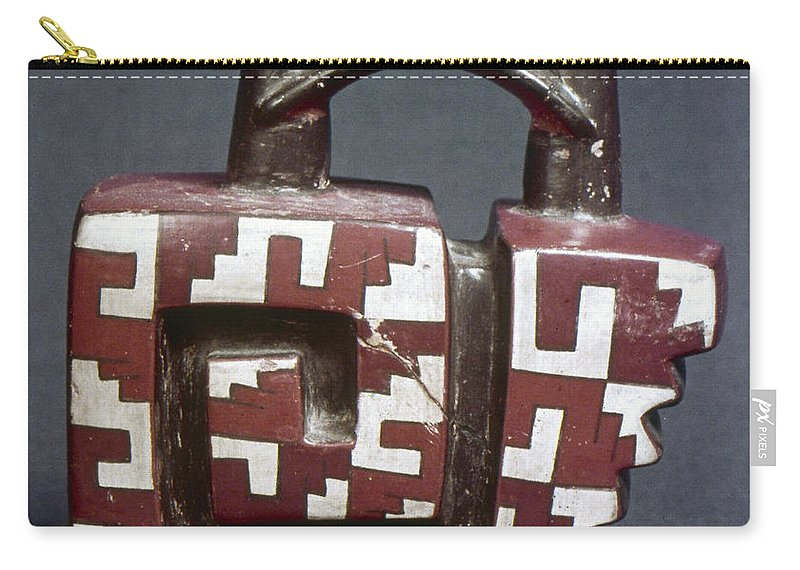 Ancient Carry-all Pouch featuring the photograph Peru: Pre-columbian Vessel by Granger