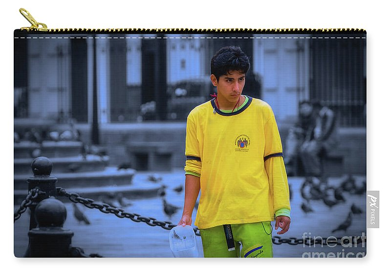 Lima Carry-all Pouch featuring the photograph Peruvian Boy by Doug Sturgess