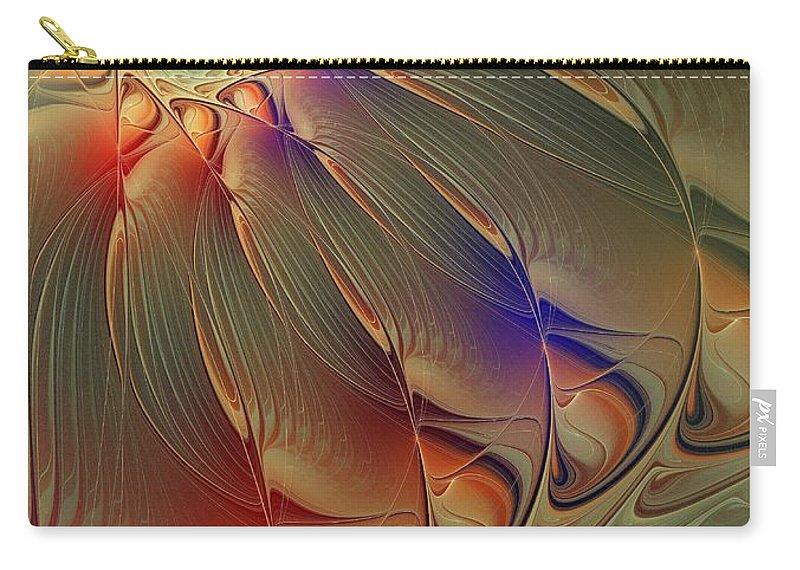 Digital Art Carry-all Pouch featuring the digital art Petalia by Amanda Moore