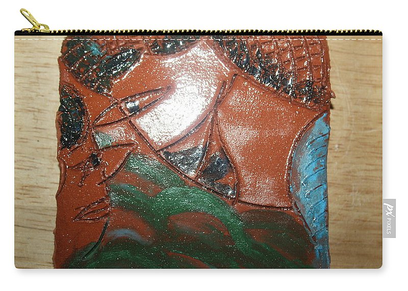 Jesus Carry-all Pouch featuring the ceramic art Petals - Tile by Gloria Ssali