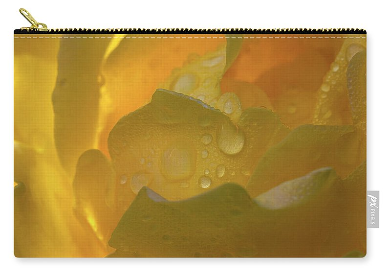 Rose Carry-all Pouch featuring the photograph Petals And Drops by Phyllis Denton