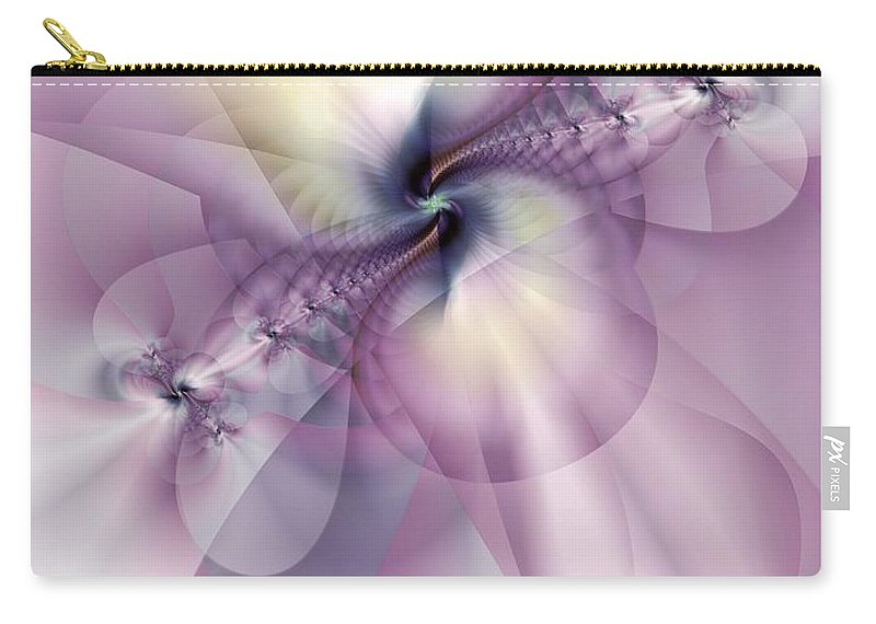 Abstract Carry-all Pouch featuring the digital art Petals Of Pulchritude by Casey Kotas