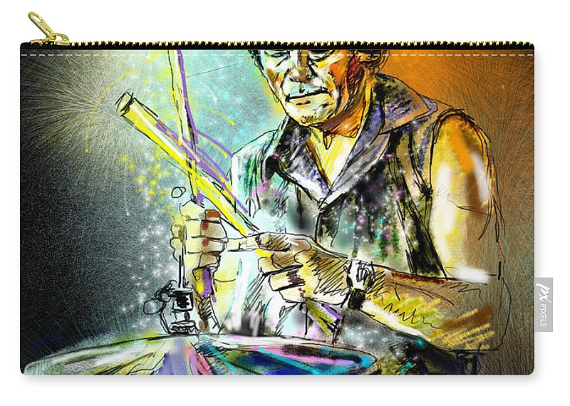 Pete Phipps Portrait Carry-all Pouch featuring the digital art Pete Phipps by Miki De Goodaboom