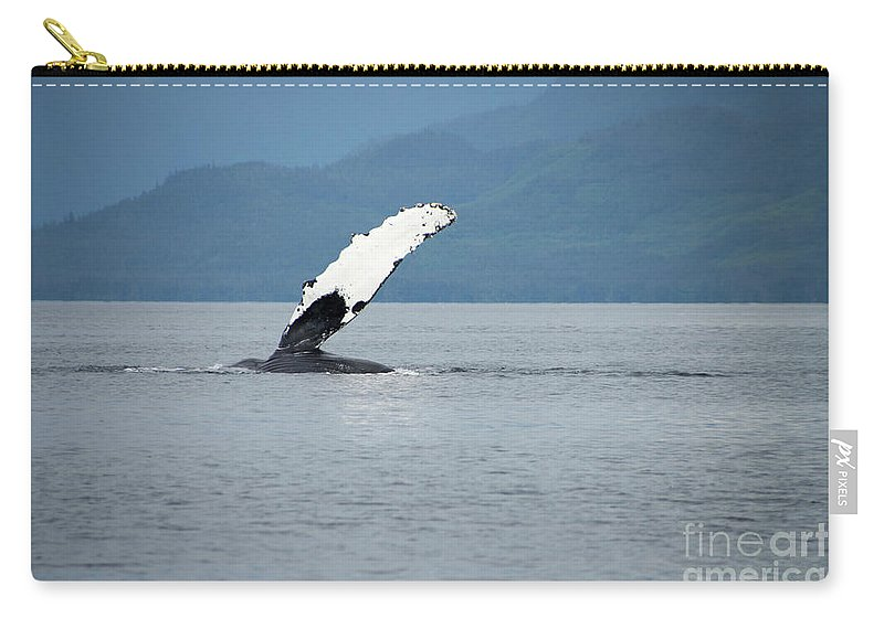 Alaska Carry-all Pouch featuring the photograph Petersburg Ak Whale Fin by Louise Magno