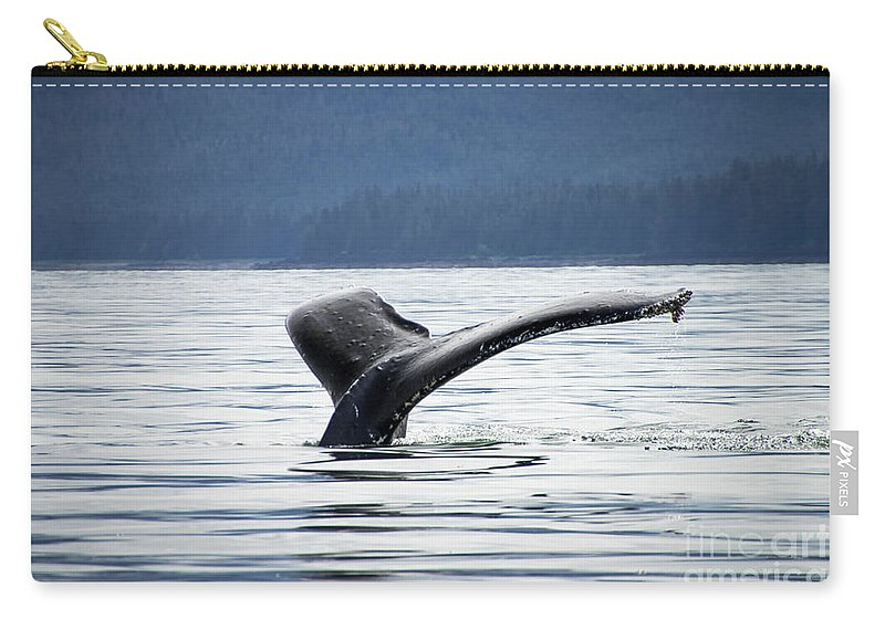 Alaska Carry-all Pouch featuring the photograph Petersburg Ak Whale Tale 5 by Louise Magno