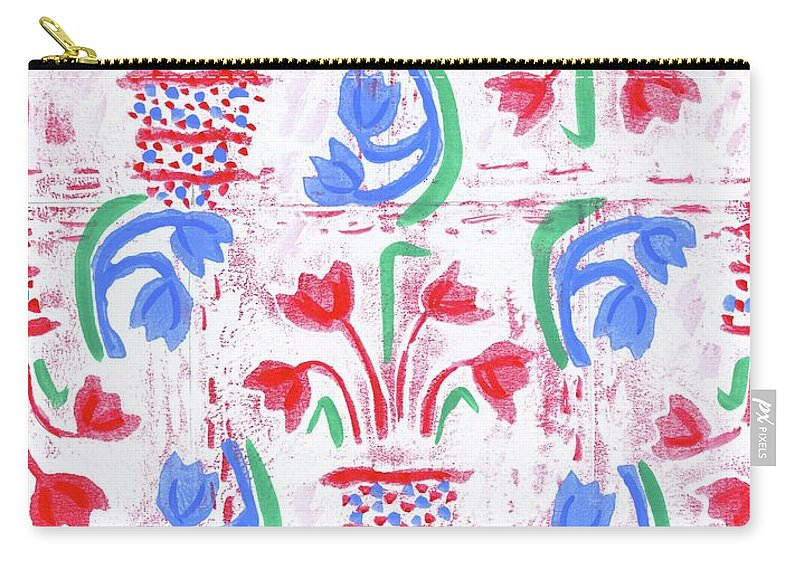 Textile Print Carry-all Pouch featuring the photograph Petite Print Tulipa #2 by Judy LaMar