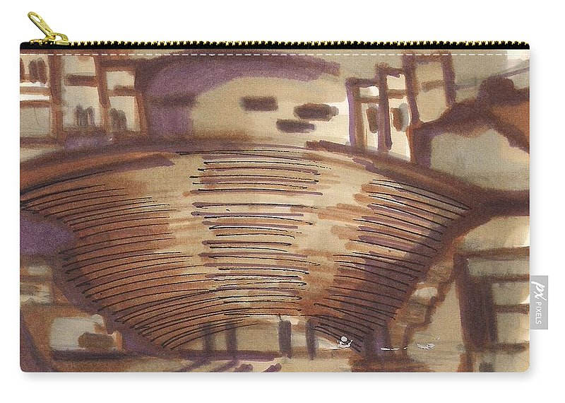 Carry-all Pouch featuring the painting Petra 01 by Popa Andreea