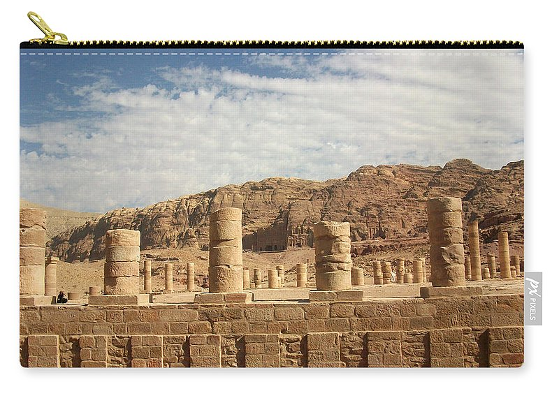 Petra Carry-all Pouch featuring the photograph Petra Sky by Munir Alawi